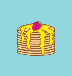 Holiday pancake day a stack of pancakes with vector