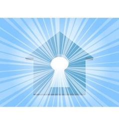 home keyhole ray vector image