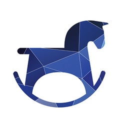Horse toy icon Abstract Triangle vector