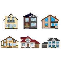 House set - colourful home icon collection group vector