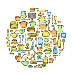 Kitchen Doodle Set vector