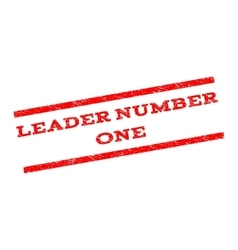 Leader Number One Watermark Stamp vector image
