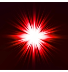 Light flare red effect vector image
