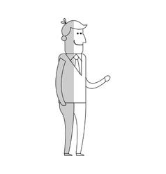 man cartoon icon vector image vector image