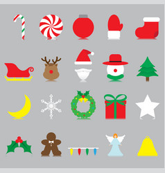 merry christmas - isolated icons vector image