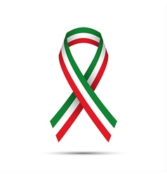 Modern colored ribbon with the Italian tricolor vector
