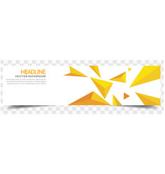 modern yellow crystal white background headline ve vector image