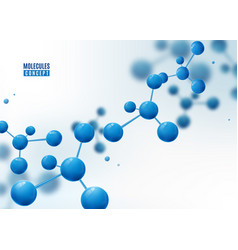 molecule background atoms molecular structure vector image