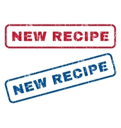 New Recipe Rubber Stamps vector