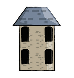 old house icon vector image