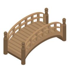 park bridge icon isometric style vector image