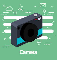 Photo camera picture lens flash device technology vector