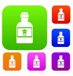 poison bottle set collection vector image
