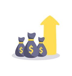profit money icon vector image