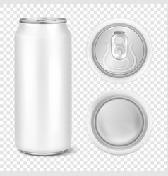 Realistic 3d empty glossy metal white vector