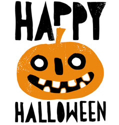 scary pumpkin grunge halloween poster vector image