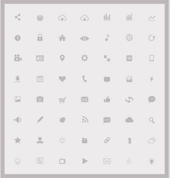 set web and mobile icons vector image