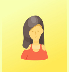 Sketchy style artistic character youn beautiful vector
