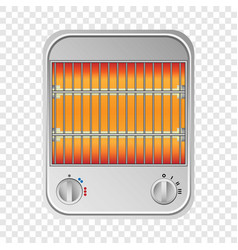 Small heater mockup realistic style vector