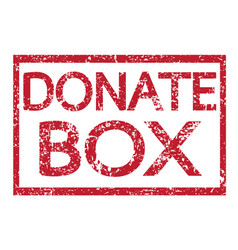 Stamp text donate box vector