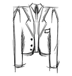 suit drawing on white background vector image