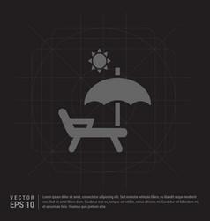 Sun bath icon vector