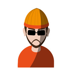 suspicious looking man with sunglasses criminal vector image