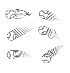 Tennis moving symbol vector