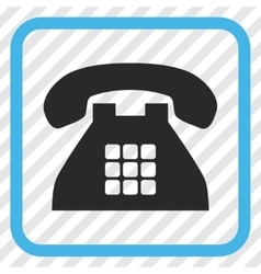 Tone Phone Icon In a Frame vector