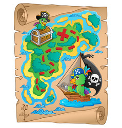 Treasure map theme image 8 vector