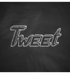 Tweet icon vector