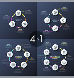 unusual infographic design templates vector image