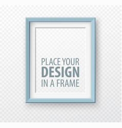 Vertical frame mock up on transparence background vector