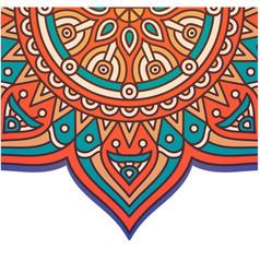 vintage flower mandala design image vector image
