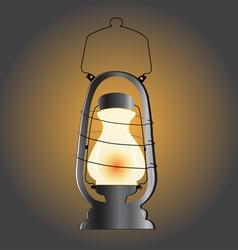 Vintage lantern western decor vector