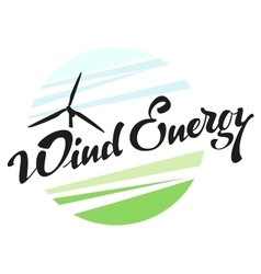 Wind Energy Lettering text vector image