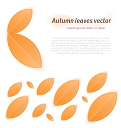 Abstract autumn leaves vector image vector image