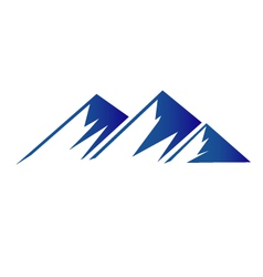 Blue mountains logo vector image