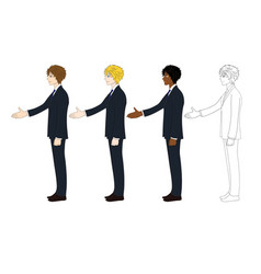 business man hand shake vector image vector image