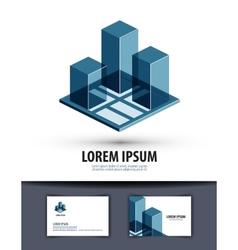 construction logo icon sign emblem template vector image