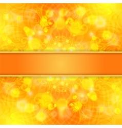 Elegant orange ornate background with lace vector image