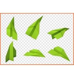 Paper plane isometric flat vector