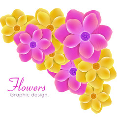realistic flowers vector image