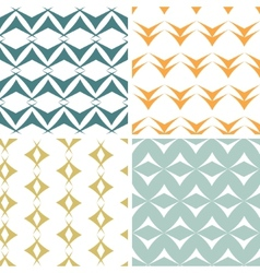 Four abstract arrow shapes seamless patterns set vector image vector image