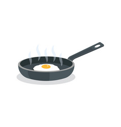 fried eggs on pan with handle vector image vector image