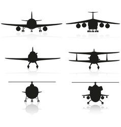 set icons airplane 02 vector image vector image