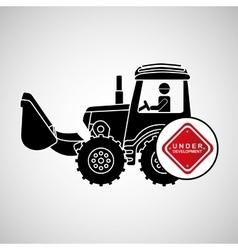 construction truck concept under development vector image
