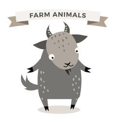 Cute cartoon goat vector image vector image