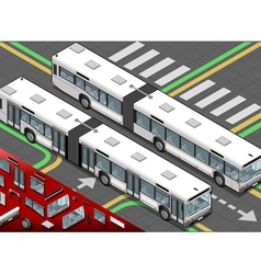 Isometric Long Bus in Front View vector image vector image