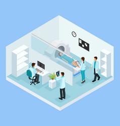 isometric mri diagnostic process concept vector image